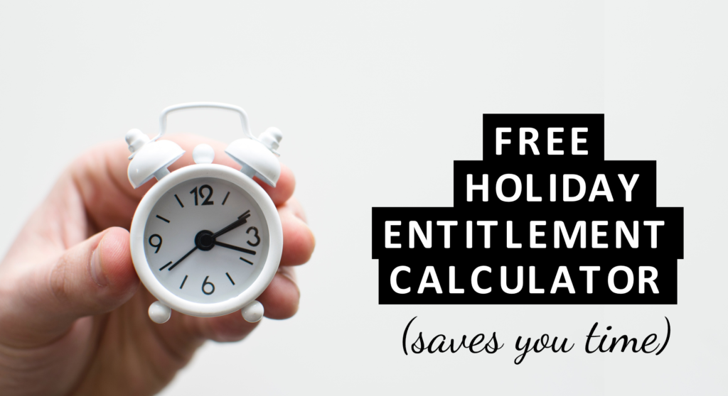 Holiday entitlement calculator