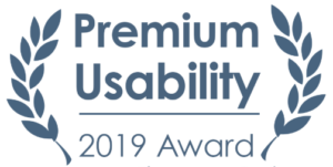 Winner of the Premium Usability 2019 Award