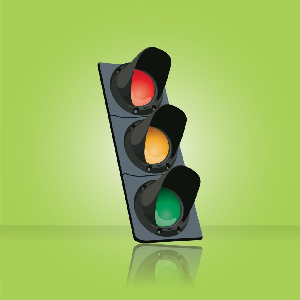 Operate a traffic light system for staff to return to work