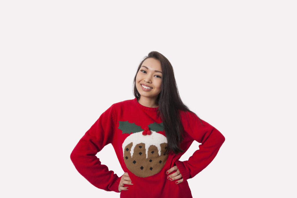 Add a theme to your virtual Christmas party such as Christmas jumpers