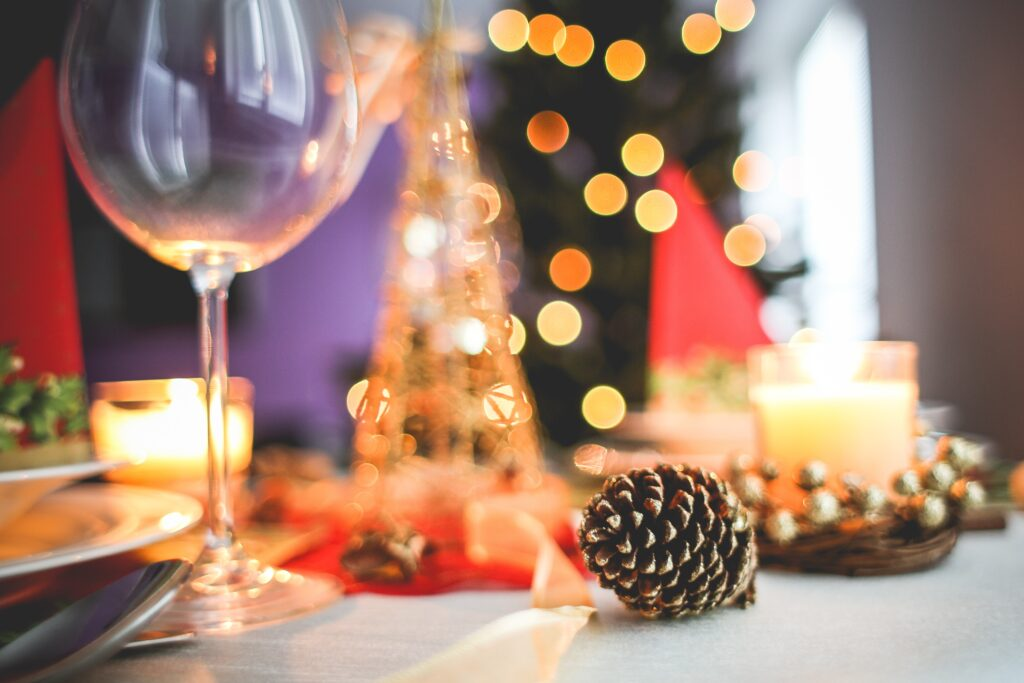 Set the table for your virtual Christmas party meal